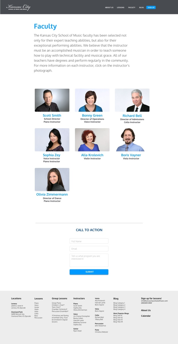Faculty Page