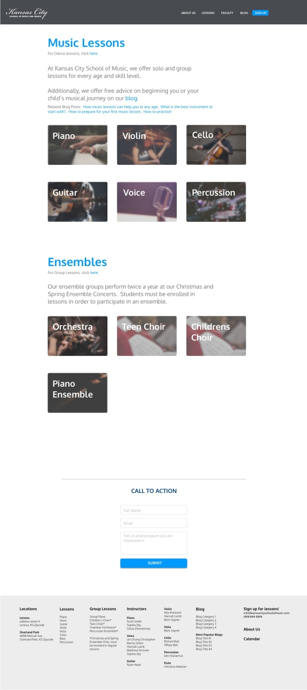 Lessons Main Page